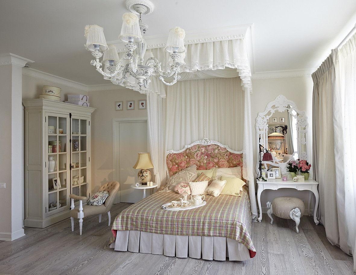 Спальня в стиле прованс - декор
