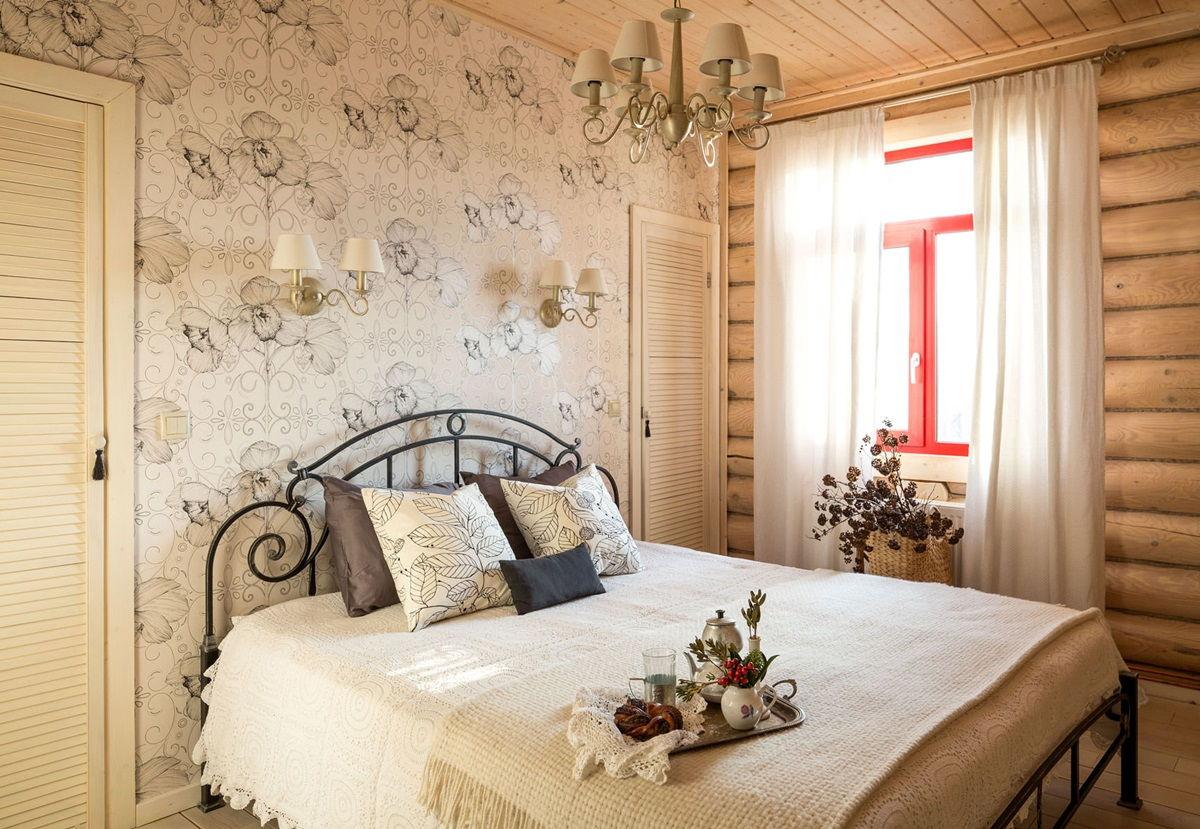 Кованная кровать в стиле прованс