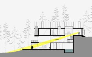 Большой загородный дом в скандинавском стиле - проектная графика