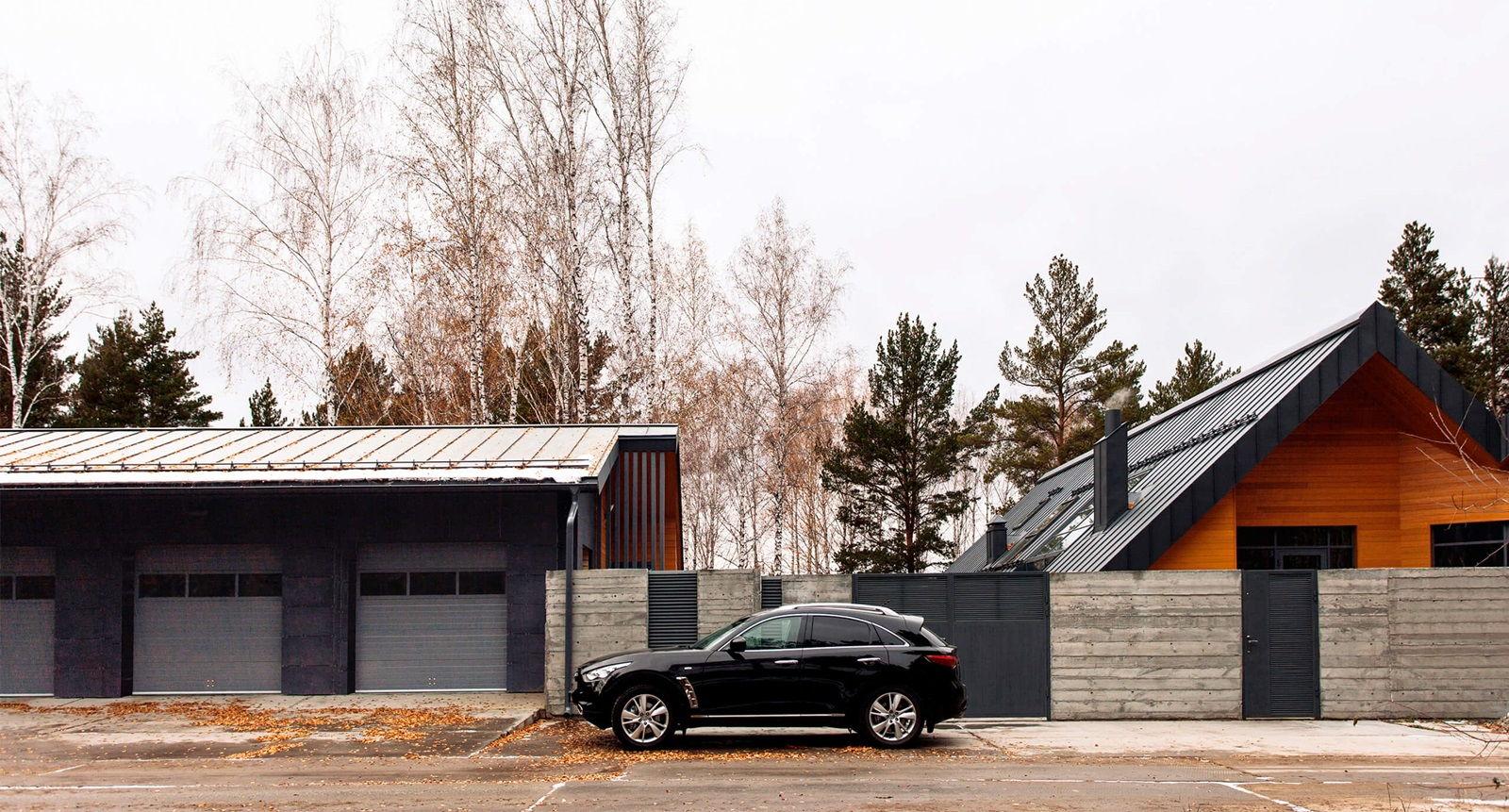 Экстерьер большого загородного дома в скандинавском стиле