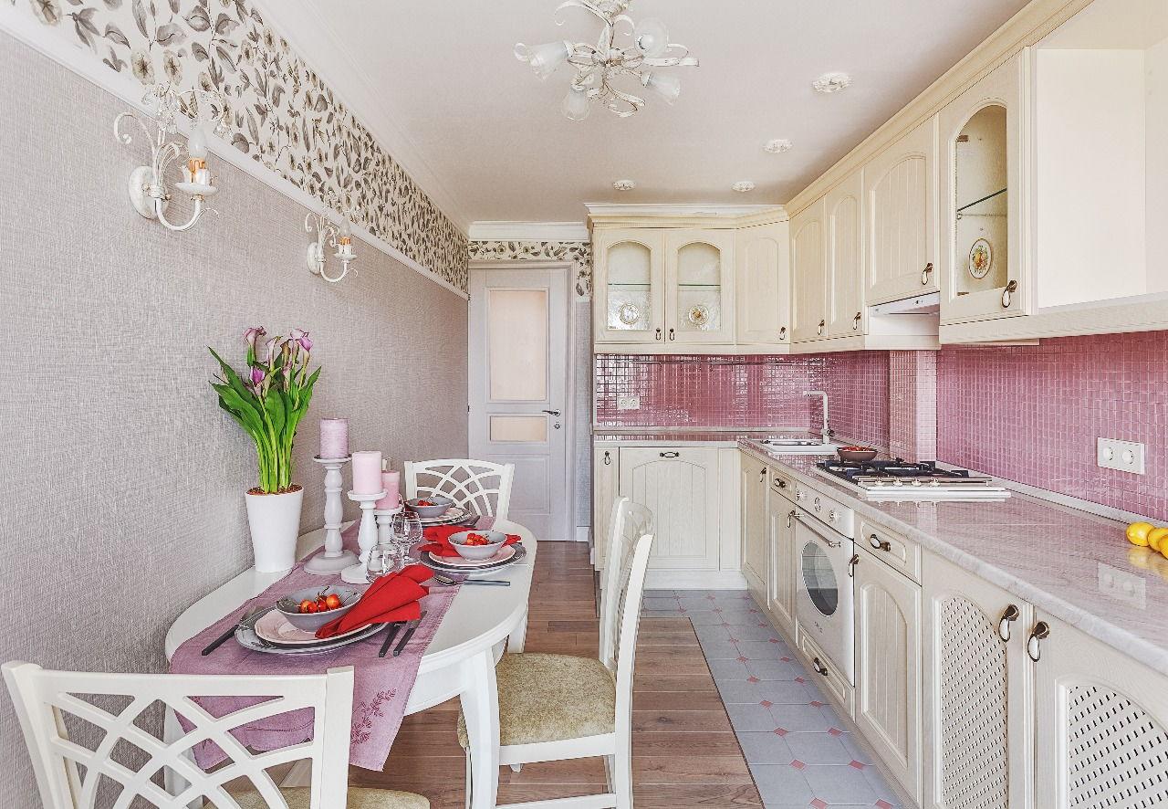 Дизайн стен на кухне в стиле прованс