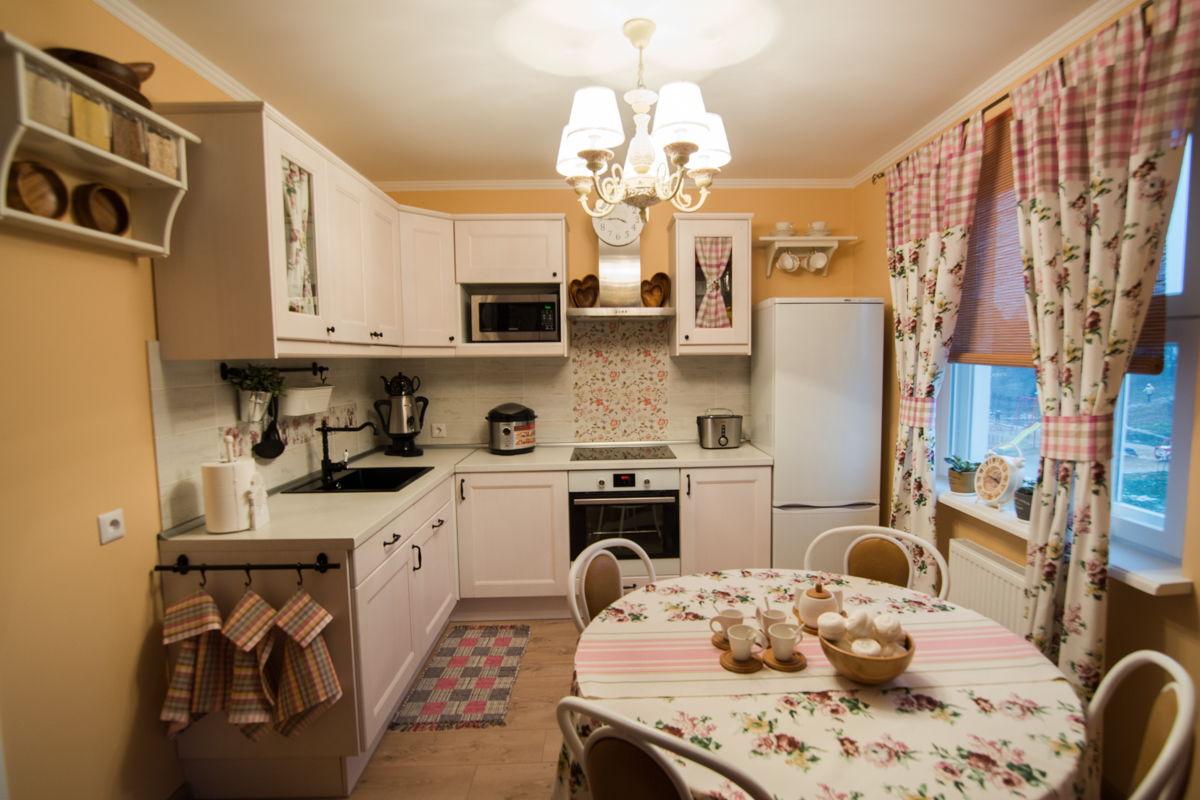 Современная кухня в стиле прованс в квартире