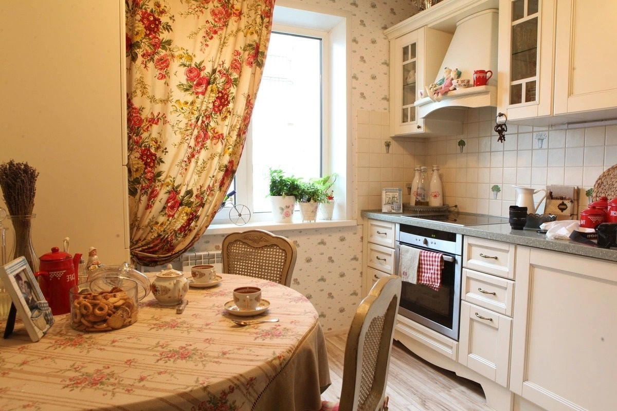 Дизайн кухни в стиле прованс - фото