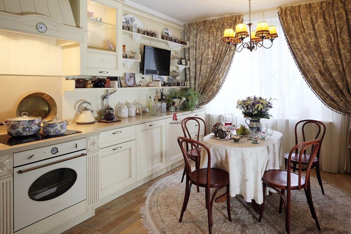 Текстиль на кухне в стиле прованс