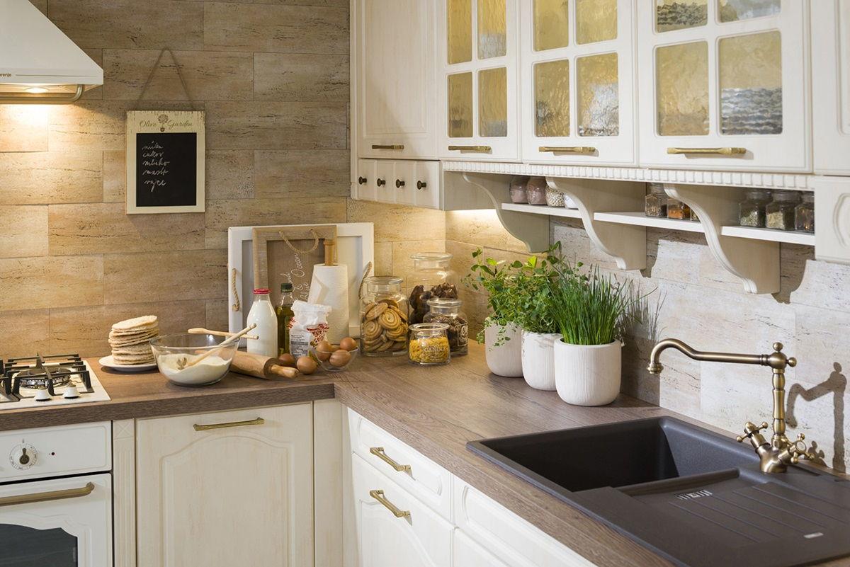 Дизайн кухни в стиле прованс - фото (39)