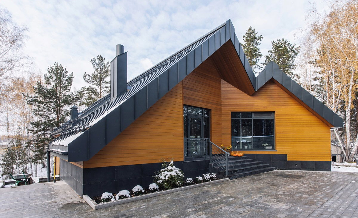 Большой загородный дом в скандинавском стиле