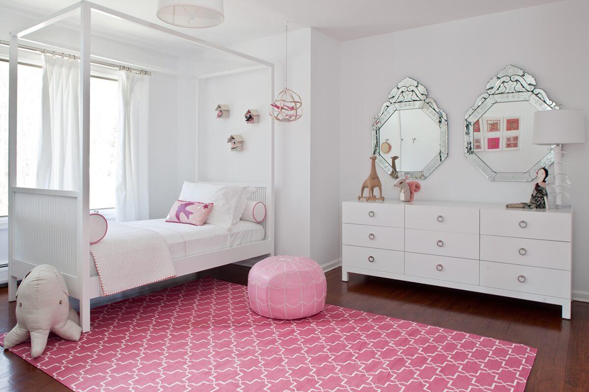 Ковер в интерьере детской комнаты - фото (6)