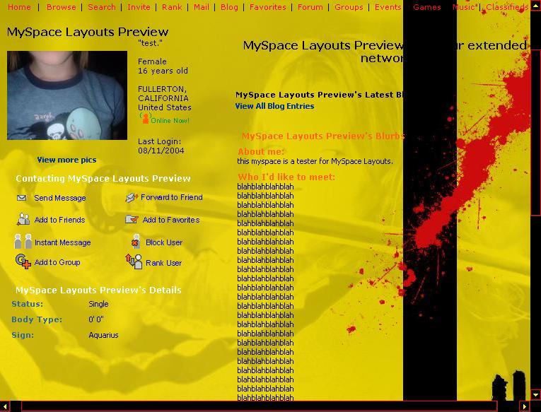 убить-Билль-MySpace-макет