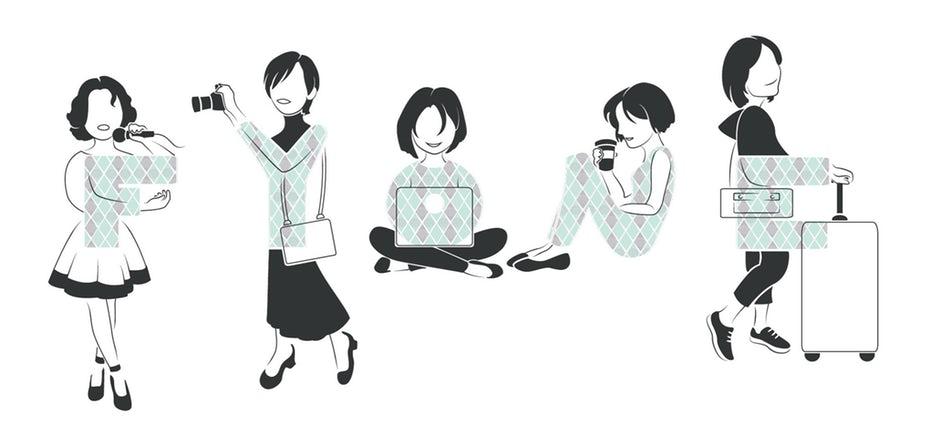 Иллюстрация, показывающая разные образы жизни «width =» 2040 «height =» 978