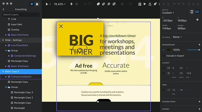 """Снимок экрана с пользовательским интерфейсом Invision Studio «style ="""" width: 100% """"/>    <figcaption class="""