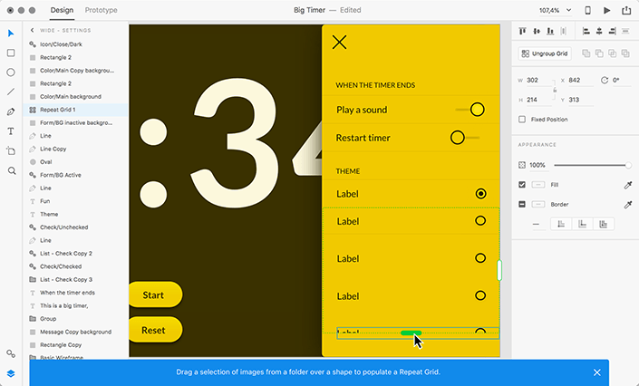"Снимок экрана Adobe XD UI «style ="" width: 100% ""/>    <figcaption class="