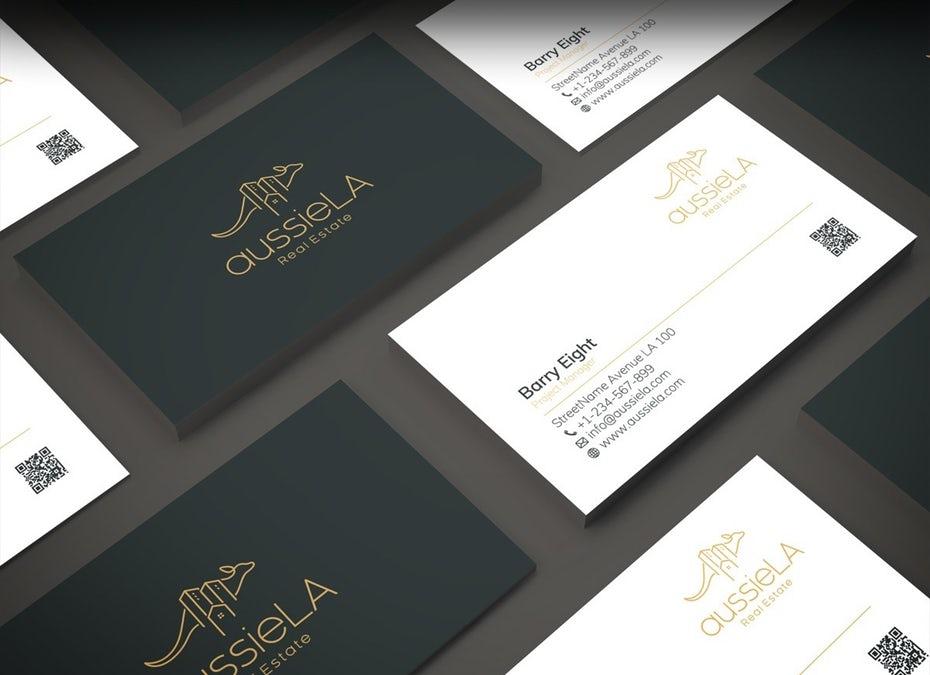 "aussieLA Real Estate визитная карточка ""width ="" 1200 ""height ="" 871"