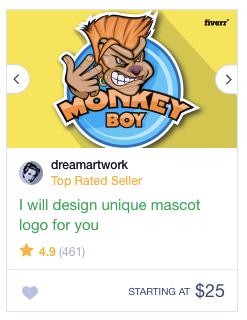 Листинг дизайна логотипа от Fiverr