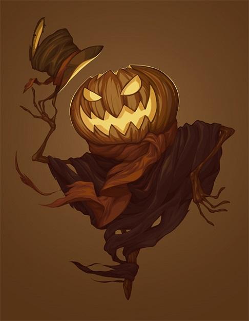 Halloween series of illustrations