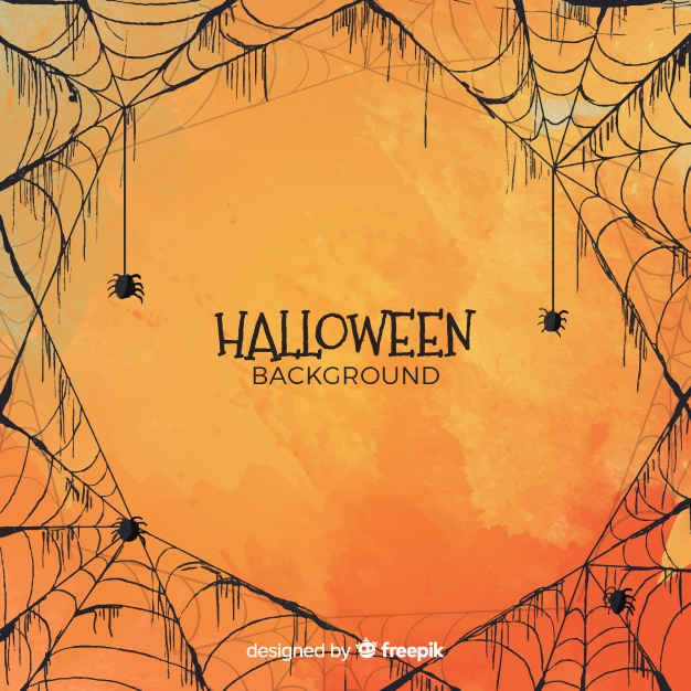 Halloween background in watercolor style