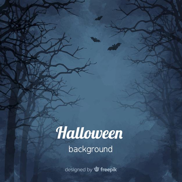 We're Hiring Log in Register Spooky watercolor halloween background