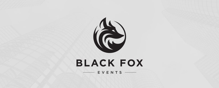 "Black Fox Events logo ""width ="" 1180 ""height ="" 475"