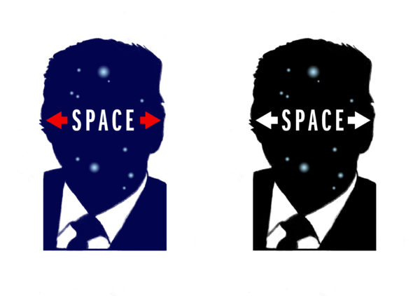 17. Milton Glaser, Space Force, 2018, Bloomberg Businessweek (digital), 27 июля 2018 г., любезно предоставлено художником «width =« 600 »height =« 422 »&gt;   <p class=