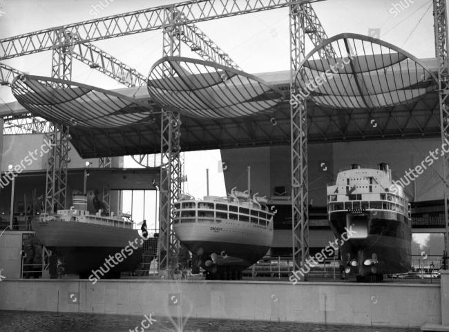 «Павильон моря и кораблей» на Фестивале Британии. Архитектор Бэзил Спенс. 1951