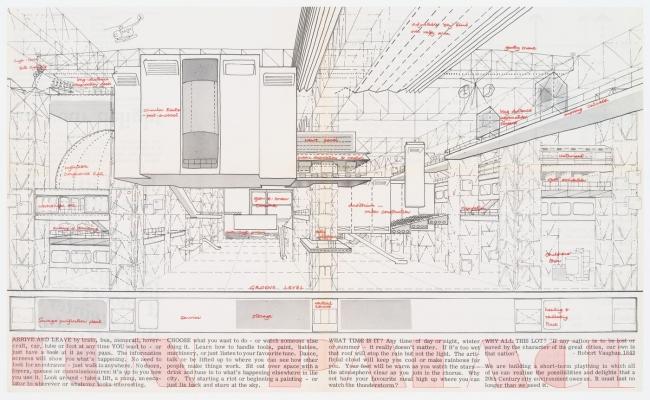 Седрик Прайс, Джоан Литлвуд. Рекламная брошюра для Дворца развлечений. Из собрания Канадского центра архитектуры (Монреаль)