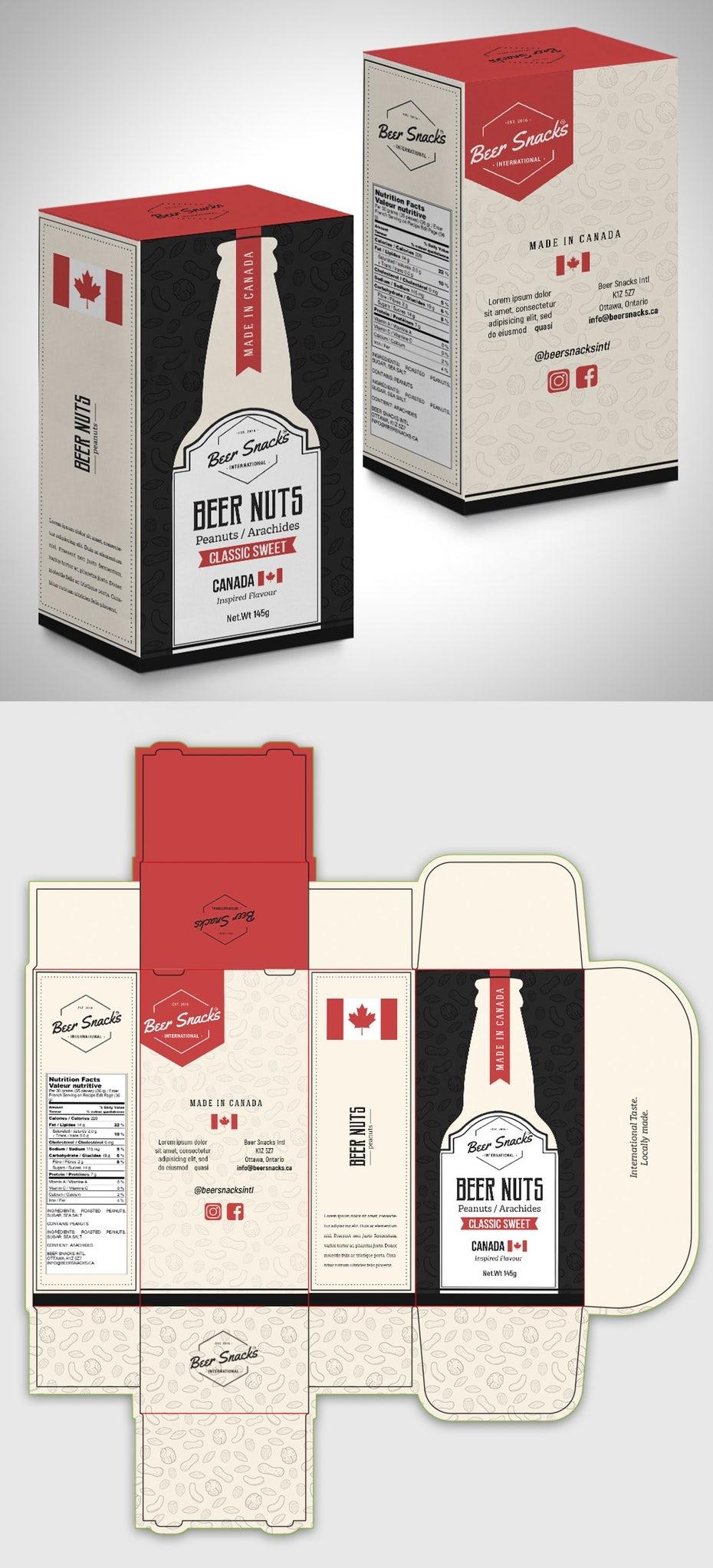 Дизайн упаковки для пивных закусок «ширина =» 1000 «height =» 2200
