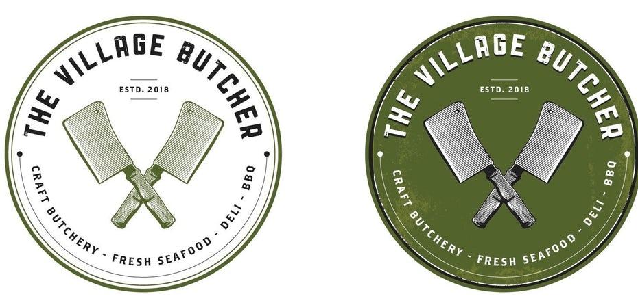 "Логотип Village Butcher ""width ="" 1459 ""height ="" 700"