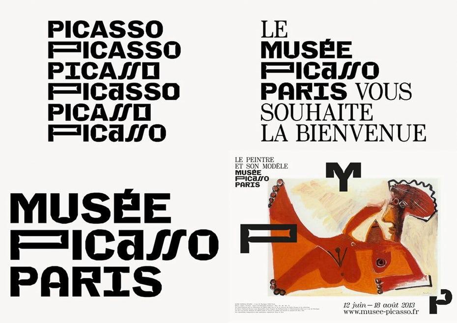 "Варианты логотипа Musee Picasso Paris ""width ="" 1000 ""height ="" 706"
