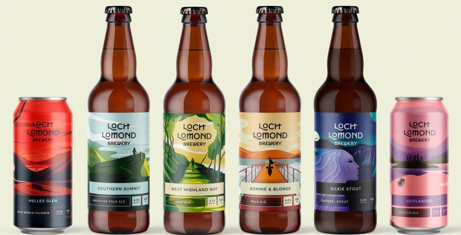 Loch Lomond Brewery иллюстрирует иллюстрацию пивной этикетки «width =» 1702 «height =» 870