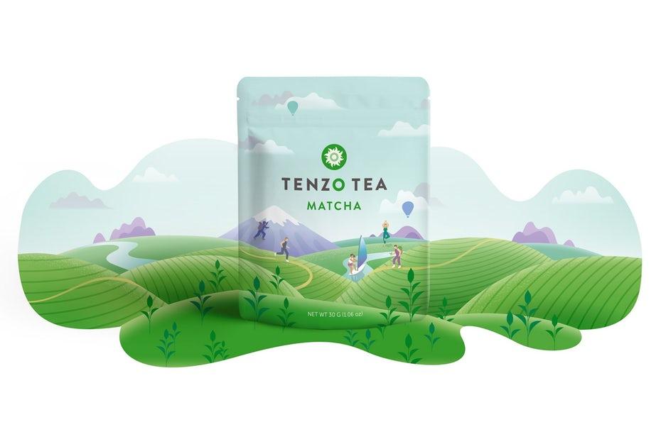 Tenzo Team Matcha нативный упаковочный материал