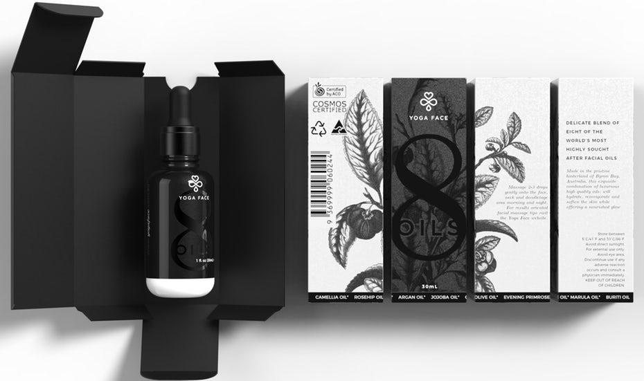 Дизайн бутылочки с белым маслом «ширина =» 1902 «высота =» 1127