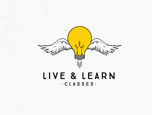 "Live & Learn Classes Дизайн логотипа ""width ="" 521 ""height ="" 396"