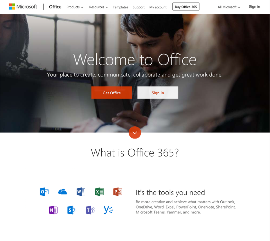 Домашняя страница Microsoft Office &quot;width =&quot; 1778 &quot;height =&quot; 1586 &quot;/&gt;    <figcaption> через Microsoft Office </figcaption></figure> <h3><span id=