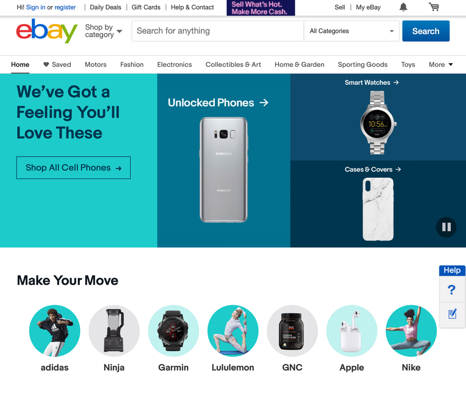 домашняя страница ebay &quot;width =&quot; 1772 &quot;height =&quot; 1538 &quot;/&gt;    <figcaption> via ebay </figcaption></figure> <h3><span id=