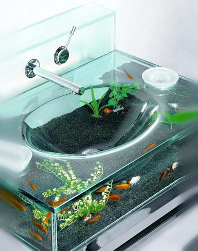 Аквариум в ванной