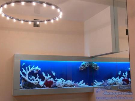 оформление аквариума камнями