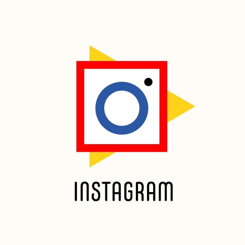 Логотип Instagram в стиле Баухауз