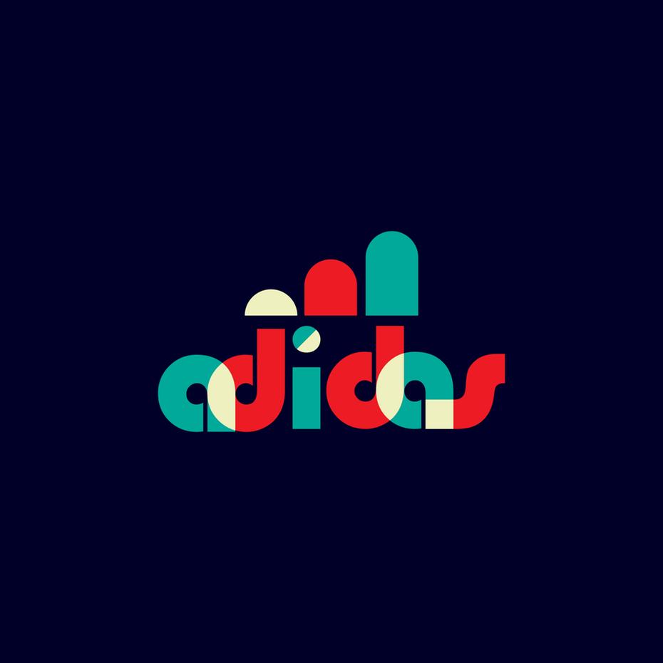 """Логотип Adidas в стиле дизайна Баухауза """"width ="""" 2000 """"height ="""" 2000"""