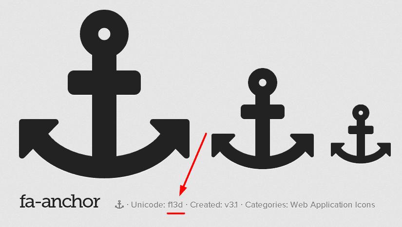 font-awesome-icon-unicode