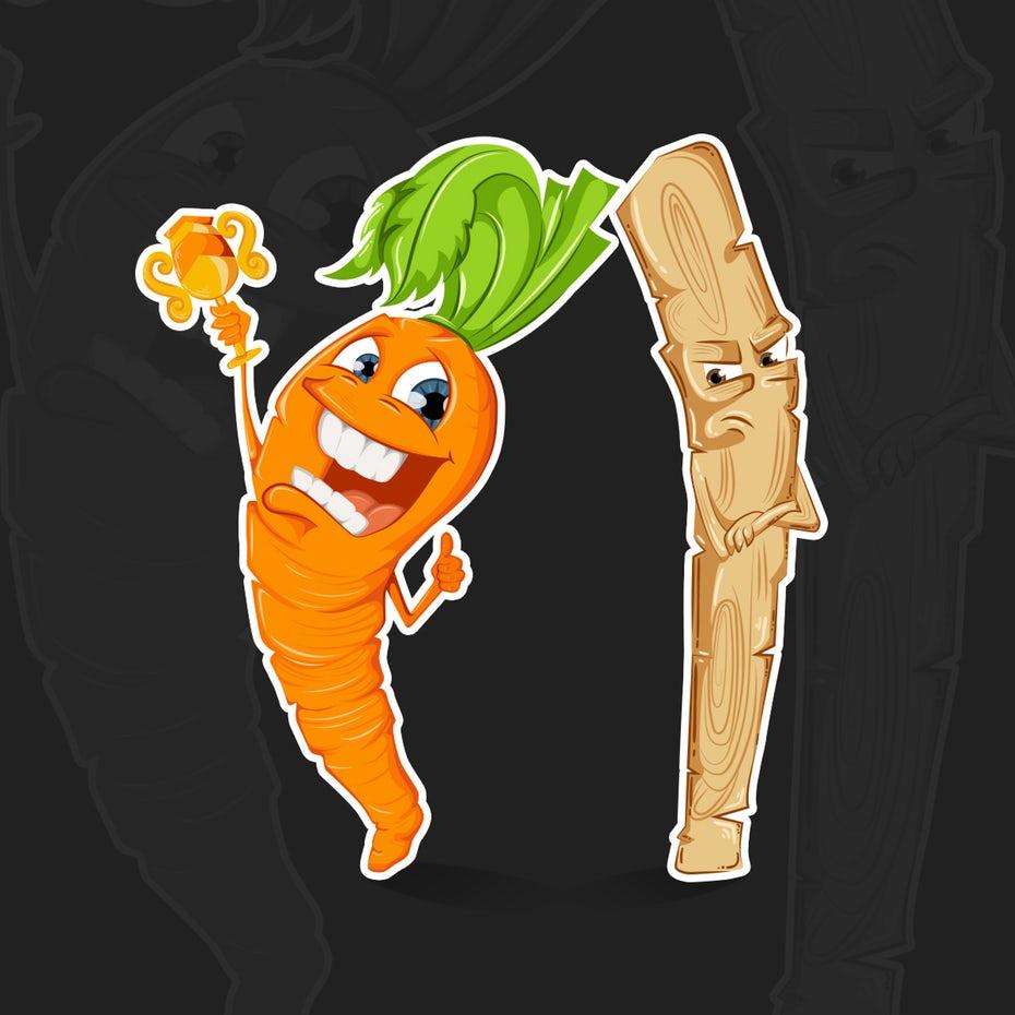 счастливая морковь с наградой и несчастной палкой &quot;width =&quot; 1200 &quot;height =&quot; 1200 &quot;/&gt;    <figcaption> счастливая морковь с дизайном наградой и несчастной палочкой Шаллу Нарула </figcaption></figure> <p> Tell ваши зрители, что вы собираетесь дать им в своем пояснении или вступлении к интервью, затем говорят, что в самом конце будет дополнительная информация. </p> <p> Это особенно хорошо работает для интервью. Представьте, что вы нашли видео-интервью с вашим любимым влиятельным лицом, и во вступлении интервьюер говорит, что они раскроют секрет своего успеха. Вы <em> должны </em> остаться на время! </p> <p> Но будьте осторожны с этой техникой, чтобы она не воспринималась как наживка. Помните, что вы должны выполнить то, что обещаете, иначе люди будут чувствовать себя обманутыми. </p> <h3><span id=
