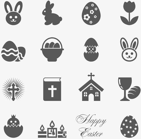 Free-vector-flat-color-set-of-easter-icons