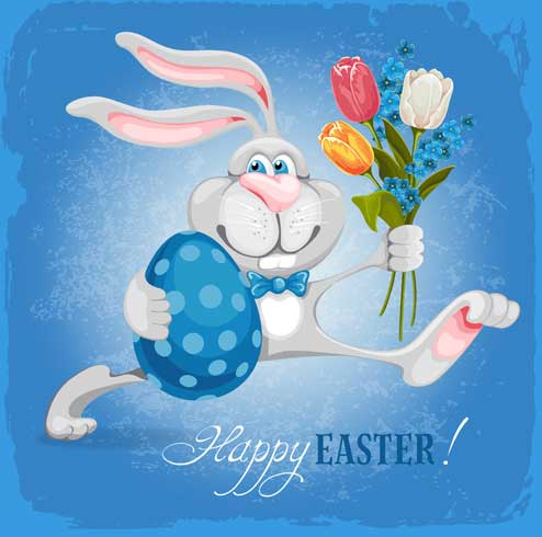 Happy-easter-bunny-background-vector-graphic