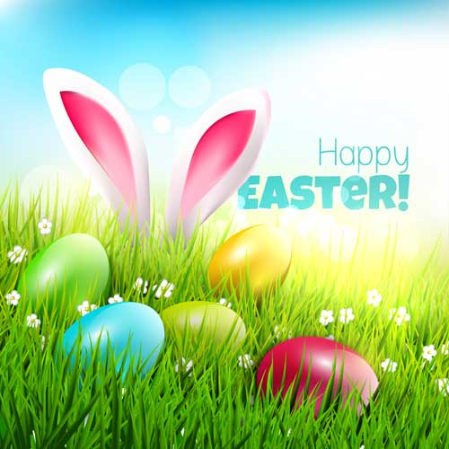Easter-egg-with-grass-background-art-vector