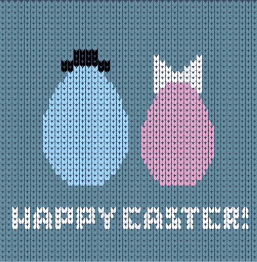 Easter-egg-with-fabric-background-vector