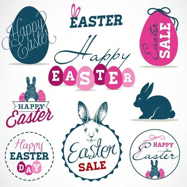 Free-vector-vintage-style-easter-labels-and-badge