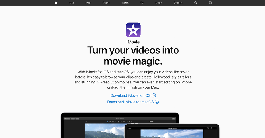 iMovie может быть Windows Movie Maker своего поколения, но это все еще довольно хорошая отправная точка для начинающих видеоредакторов. &quot;Width =&quot; 1600 &quot;height =&quot; 831 &quot;/&gt;    <figcaption> Изображение через Apple </figcaption></figure> <p> Просто не попадайтесь в ловушку использования анимированных текстовых шаблонов или незаметных переходов. Это простая распродажа, которую вы использовали в iMovie. </p> <p> Ох, ради бога, отключите эффект Кена Бернса. </p> <h4><span id=