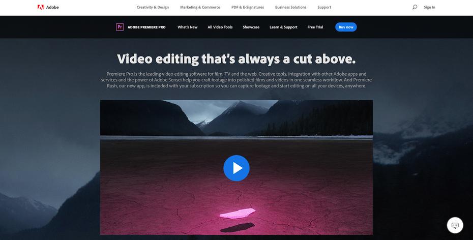 Adobe Premiere Pro - одна из лучших программ для редактирования видео в бизнесе. &quot;Width =&quot; 1600 &quot;height =&quot; 812 &quot;/&gt;    <figcaption> Изображение через Adobe </figcaption></figure> <p> С помощью В Premiere Pro вы можете перетаскивать файлы Photoshop и Illustrator (изображение) или Audition (звук), редактировать их в своих собственных приложениях и видеть эти изменения, отраженные в вашем проекте Premiere. Кроме того, анимированные шаблоны Premiere Pro могут легко добавлять графику движения (например, анимированные нижние трети) в хронологию видео. Вы сможете редактировать текст, изменять цвета, даже длину анимации, и все это без необходимости открывать сложный файл After Effects. содержит. </p> <p> Premiere Pro отлично справляется с основными функциями программы редактирования видео. Вы можете добавлять и редактировать столько видеороликов или аудио, сколько пожелаете, настраивать цвет и экспортировать видео в любом формате. Это невероятно мощная программа, которая до сих пор является одной из лучших в своем классе. И как часть подписки на Adobe Creative Cloud это хорошая ценность. </p> <h4><span id=