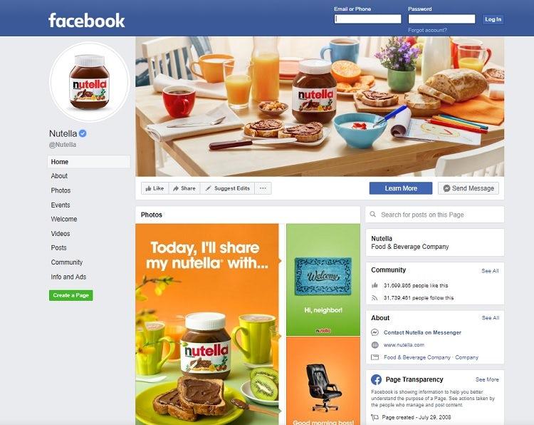 """Веб-сайт социальной сети Nutella Facebook """"width ="""" 750 """"height ="""" 596 """"/>    <figcaption> Через Nutella на Facebook </figcaption></figure> <p> На странице Nutella на Facebook представлена интересная смесь контента, который все они соответствуют общей цветовой палитре и внешнему виду бренда. Они содержат мемы, созданные специально для социальных сетей, такие как «Сегодня я поделюсь своим Nutella с…». Тем не менее, они также предлагают видео и идеи о том, как использовать их продукт. Обратите внимание, что они также имеют кнопки социальных сетей на своем веб-сайте, чтобы пользователи могли легко находить их на разных платформах. </p> <h2> 8. Страницы каталогов и контактов <br /> — </h2> <p> Каталог или страница контактов — это место, где пользователи могут связаться с вами или другими людьми. </p> <p> Этот тип веб-сайта хорошо работает, когда вы хотите перечислить хранилище предприятий или людей внутри организации. Например, в местном каталоге ресторанов есть закусочные в этом районе с меню, ценовыми диапазонами, номерами телефонов и отзывами. </p> <p> Характер организации создает возможность для веб-сайта каталога. Например, ассоциация местных стоматологов в городе может перечислить каждого участника, его область знаний и их контактную информацию. Держите этот вариант дизайна в заднем кармане для клиентов. </p> <figure data-id="""
