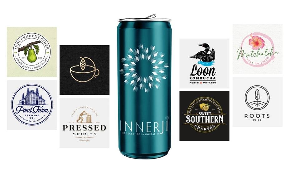 125563f8636e 33 восхитительных логотипа для напитков и напитков, которые утолят ...