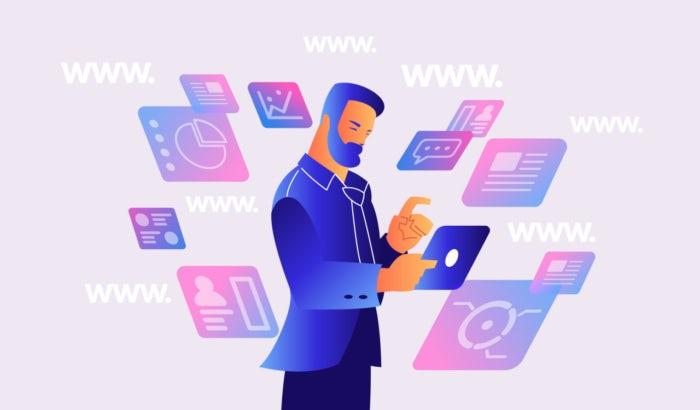 """Иллюстрация человека, окруженного плавающими веб-сайтами """"width ="""" 700 """"height ="""" 410 """"/>    <figcaption> Иллюстрация OrangeCrush </figcaption></figure> <p> Как владелец дизайна или владелец малого бизнеса, вы Мне нужно знать все виды веб-страниц, чтобы вы могли решить, какие из них будут соответствовать вашим потребностям. Изучение того, что выбрали конкуренты, и проведение тестирования позволяют вам создать идеальный формат для каждого бренда и их клиентской базы. </p> <p> Вот 8 различных типов сайтов: </p> <h2> 1. Персональные <br /> — </h2> <p> Домашняя страница является основным центром вашего сайта и служит лицом бренда. </p> <p> Ваша домашняя страница помогает посетителям сайта попасть в различные области сайта, а также может служить в качестве воронки конверсии. Поскольку большинство людей приходят к вам через вашу домашнюю страницу, именно здесь дизайн важнее всего. </p> <p> Домашняя страница может принимать множество различных форм, но при разработке важно помнить назначение домашней страницы в качестве основной навигации и точки интереса для посетителей сайта. Разъясните, в чем суть бизнеса, и предложите уникальное ценностное предложение (UVP) заранее. Установите иерархию сайта и структуру навигации на главной странице. Используйте цветовую палитру, логотип и изображения вашего бренда, которые очень важны для бизнеса. Домашняя страница задает тон имиджа компании, поэтому она должна рассказать историю о том, кем вы являетесь, с помощью изображений и слов. </p> <figure data-id="""