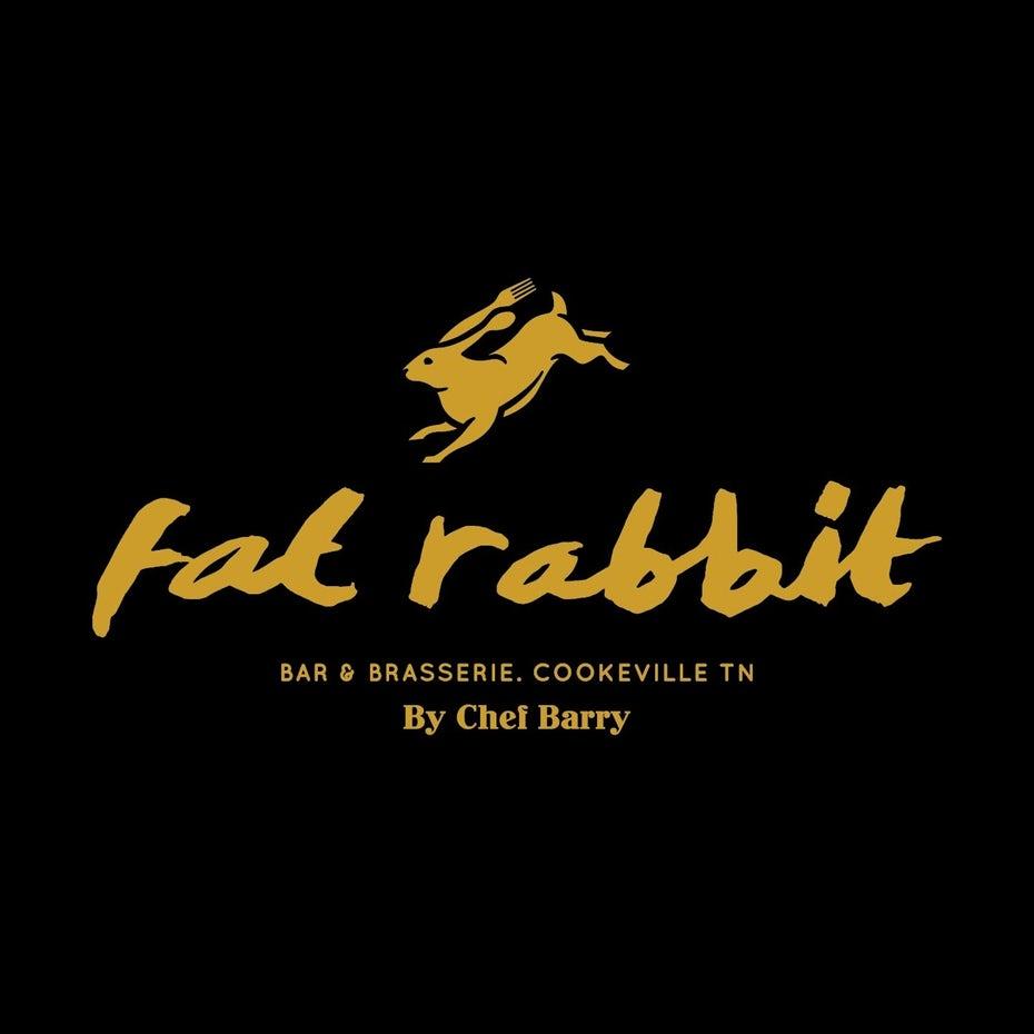 икона кролика с развевающейся рядом с ухом вилкой